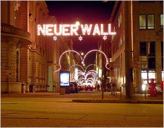 Neuer Wall Weihnachtsbeleuchtung.Neuer Wall Mit Weihnachtsbeleuchtung Hamburger Innenansichten